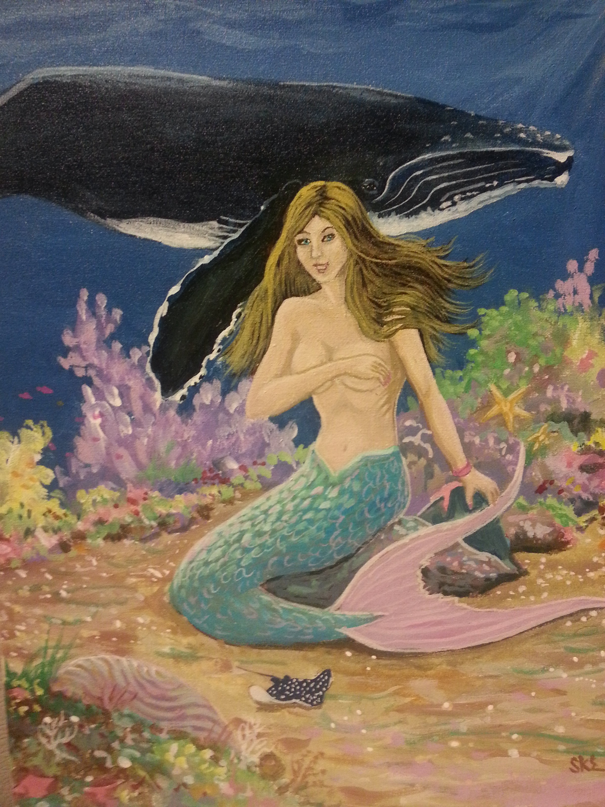 Mermaid with Whale