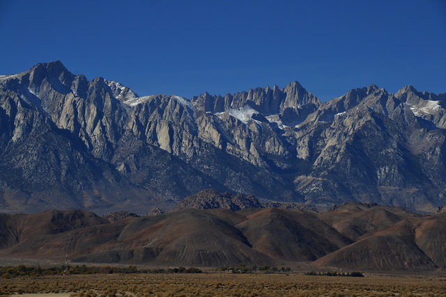 Mount Whitney, Lone Pine Peak and the Alabama Hills