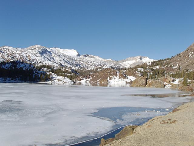 Ellery Lake Beginning To Ice Over in Late November
