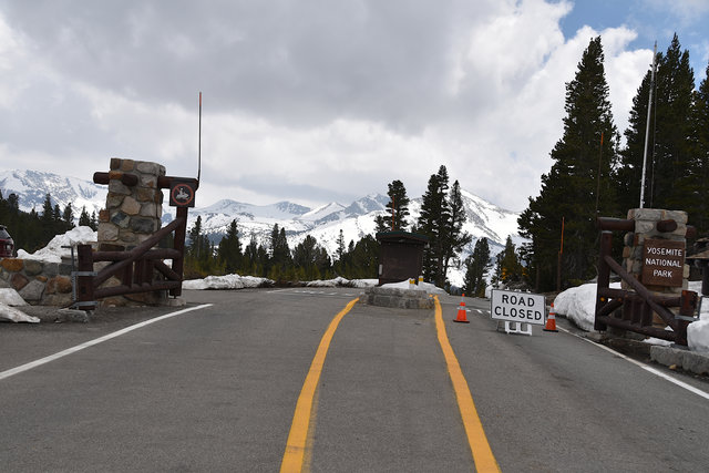 Road Closed at Tioga Pass