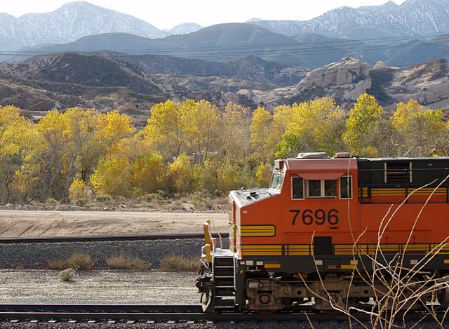 Train and Fall Color at Cajon