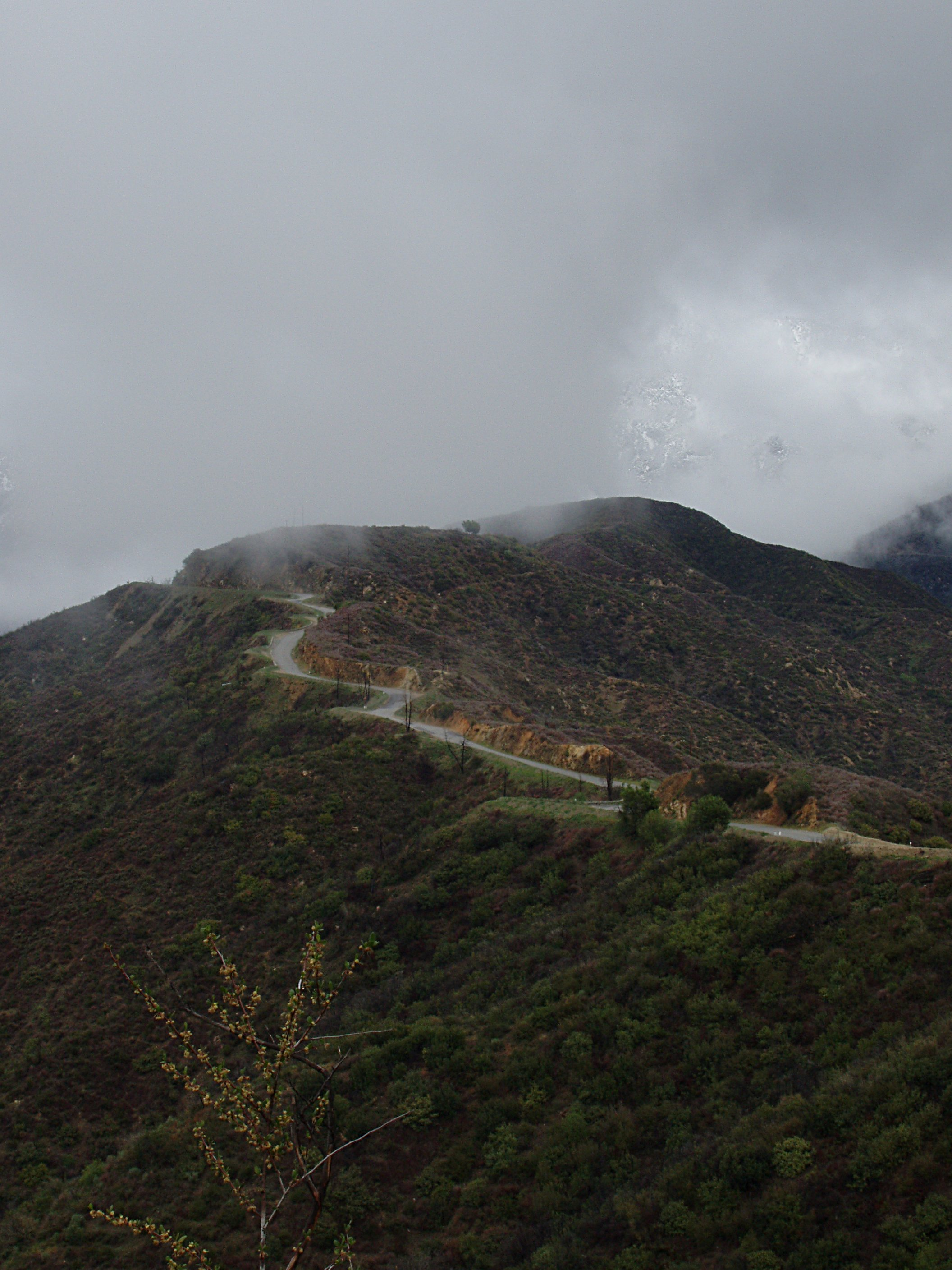 Glendora Ridge Road on a Stormy Day