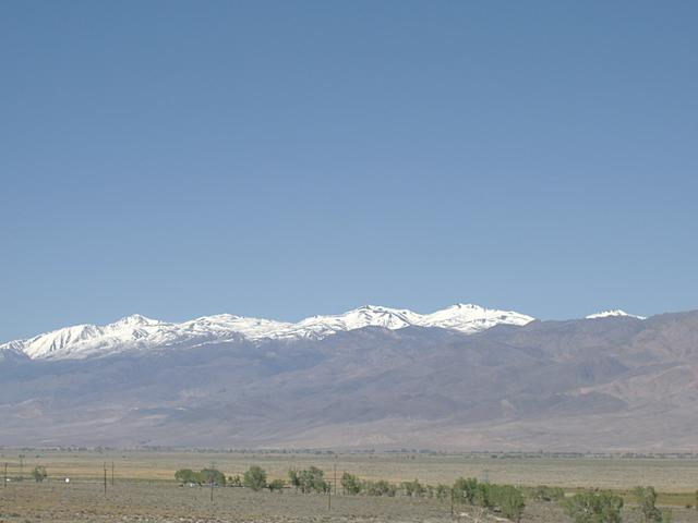 White Mountains from the Owens Valley