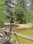 Ready to Shoot on Swinging Bridge