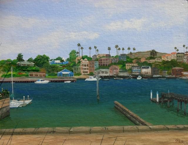 Balboa Bay (acrylic painting on canvas)
