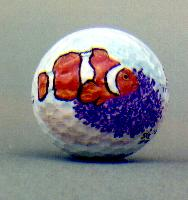 Clown Anemone Fish Golf Ball-