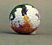 Flying Fire Breathing Dragon Golf Ball