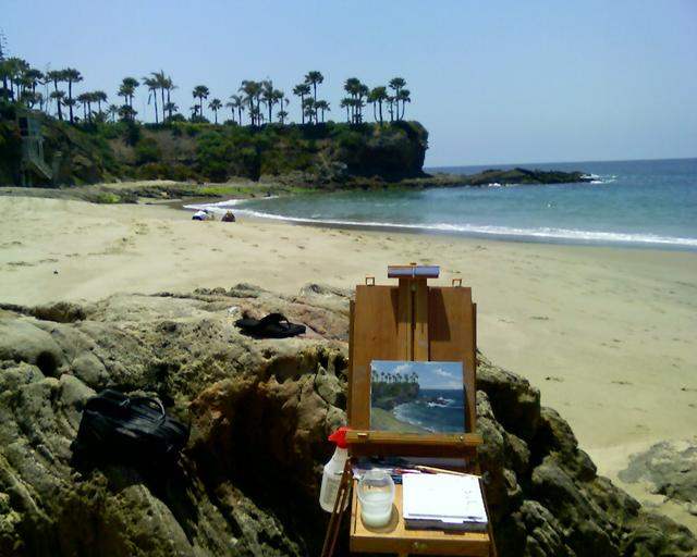 Plein Air Painting Crescent Bay