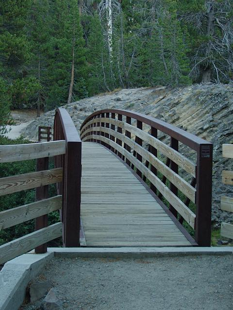 Bridge over San Joaquin river at Devil's Postpile National Monument