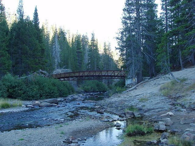 San Joaquin River and Bridge, Devil's Postpile