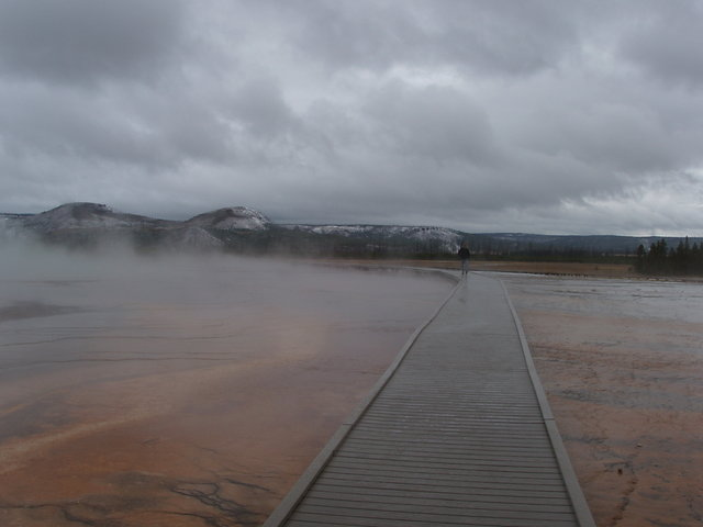 Walkway at Grand Prismatic Spring