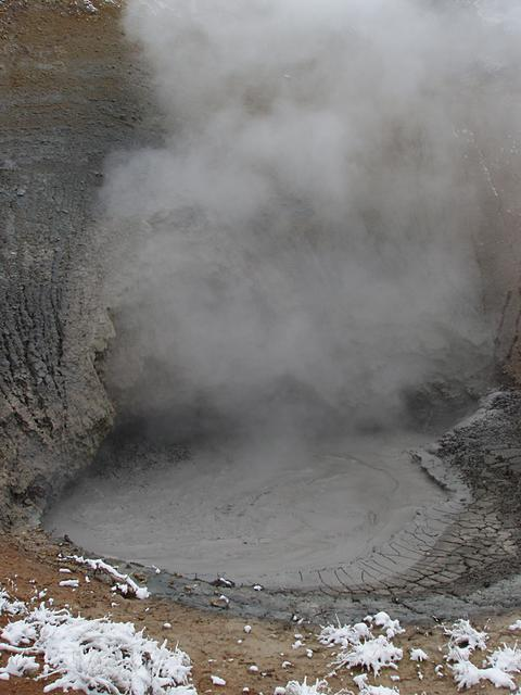 Mud Volcano and Snow