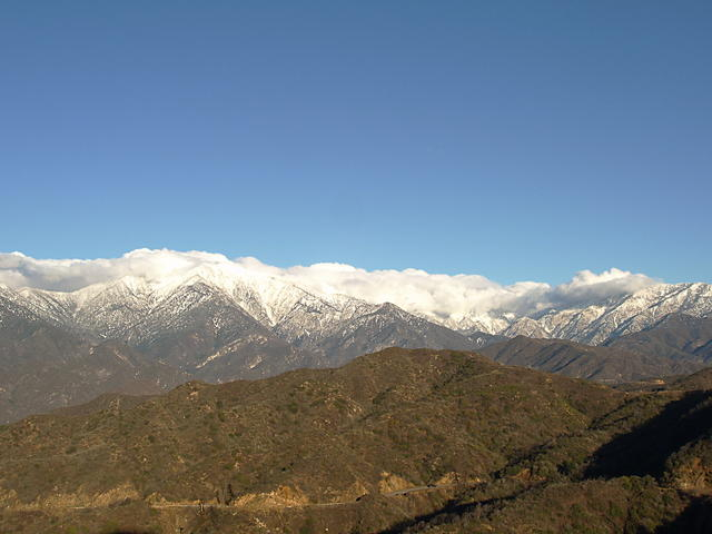 Mt. Baldy, Clouds, and Snow