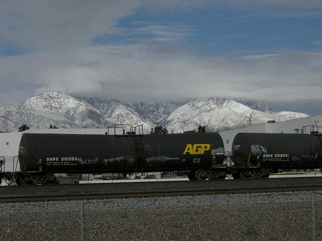 Mountains, Snow and Tank Cars