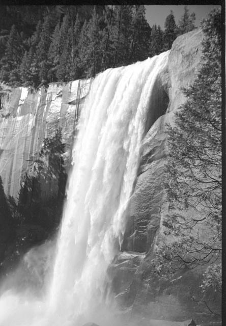 Vernal Fall in the early 80's (B&W 35mm)