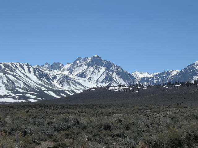 Snow Covered Eastern Sierra from Long Valley Caldera
