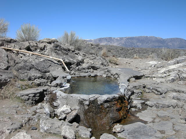 Hot Spring in Long Valley Caldera