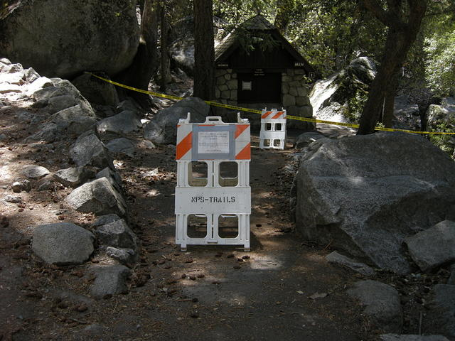 Restrooms at Vernal Falls Bridge