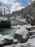 Yellowstone River and Snow