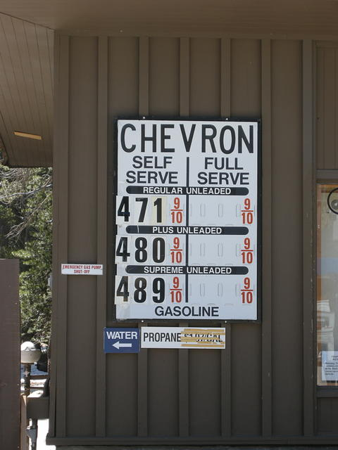 Tuolumne Meadows Gas Prices