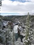 Upper Yellowstone Falls With Snow